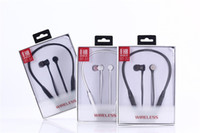 Wholesale Earphone Sports Mp3 - For Iphone 8 X magnetic Bluetooth Sport Earphone Headphones Earphones Wireless Running Headset With Mic MP3 Earbud Stereo Universal BT