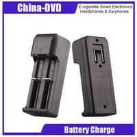 baterías xtar al por mayor-Cargadores de batería 18650 Cargadores de ranura doble Cargador universal para 18650 VTC5 Batería Vs Cargador de cigarrillo electrónico Nitecore I4 D4 Xtar VC4 NITECORE