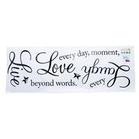 duvar ev dekor için kelimeler toptan satış-DIY Alıntı Kelimeler Duvar Sticker Çıkartması Canlı Her An Sanat Mural Sticker Duvar Sticker Ev Ofis Yatak Odası Duvar Dekor Için