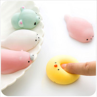 Wholesale Cute Kids Toys - Mini Squishy Toys Cute Cartoon Animals Decompression Jumbo Squishies Slow Rising Scented Charms Sweat Kids Gift DHL Free Shipping STS211