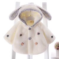 bebés del mantón al por mayor-Niñas Mantón Otoño Invierno Poncho Nuevo Bebé Vellón Cálido Ropa Infantil Chaqueta de Capa Infantil Traje de Navidad