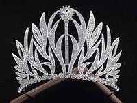 cabelo de luxo venda por atacado-Nova tiara de noiva de luxo coroa europeia Retro casamento barroco princesa enfeites de cabelo jóias de casamento