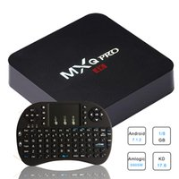Wholesale mini pc tv box android online - Android TV Box MXQ Pro Amlogic S905W Quad Core k bit Smart Mini PC G G K with I8 Wireless Keyboard