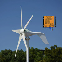 Wholesale mppt controllers resale online - New w v v blades wind power generator rooftop wind turbine with MPPT boost controller