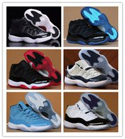 Wholesale High Sport Shoes Ladies - High Quality Women Basketball Shoes Retro 11 Pink White Black Ladies Sport Shoes with shoe box