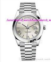 Wholesale roman factory - Luxury Watches EW Factory V2 Version TOP ETA 2836 Movement 41mm Silver Roman Dial Set Stainless Steel DATE NEW Strap Men Watch