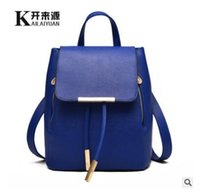 Wholesale Girl S Purses - 2017 Fashion Women\'s backpack bag school bag handbags shoulder purse top quality free shipping
