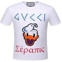 Wholesale Cat T Shirts Women - 2018 T Shirt Mens Designer T Shirts Luxury Shirt Men Women Casual T-shirt Fashion Crew Neck Cat Pattern Embroidery Cotton Short Sleeve