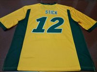 Wholesale stick numbers resale online - Men ND State Bison Easton Stick real Full embroidery College Jersey Size S XL or custom any name or number jersey