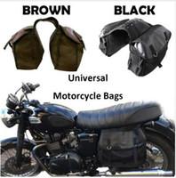 cavaleiros negros venda por atacado-Saco da motocicleta Kit Cavaleiro Cavaleiro Marrom Preto saddleBags para Triumph para Harley Sportster XL883 XL1200 para Ducati Motocicleta Peças