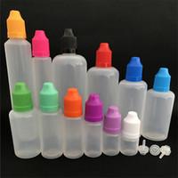 plastik çocuk iğneleri toptan satış-Yumuşak Stil PE İğne Şişe 10 ml Plastik Damlalık Şişeler Çocuk Geçirmez LDPE E Sıvı Boş Şişe Kapakları