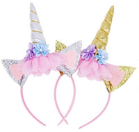 adornos de unicornio al por mayor-aro de oreja de gato de Halloween ornamento partido encanto pelo pelo de los niños del aro del unicornio L589