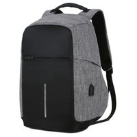 Wholesale laptop 15inch online - Multifunction USB charging Men inch Laptop Backpacks For Teenager Fashion Male Mochila Leisure Travel backpack anti thief