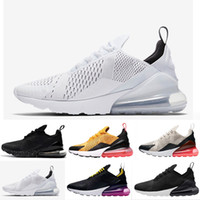 Wholesale womens training - 2018 Vapormax 270 KPU Men Running Shoes Plastic Vapor Training Outdoor Sports Mens Womens air sole 270s Trainers Zapatos Sneakers Size 36-45