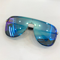 Wholesale branded cat eye sunglasses resale online - 2180 Sunglasses For Women Brand Design Rimless Frame Connection Lens UV400 Coating Mirrorr Lens Steampunk Summer Big Style Comw With Case