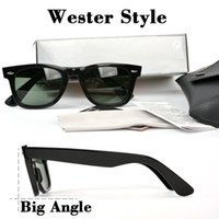Wholesale Mens Western - High quality Western style Brand Sunglasses classic Designer square Frame G-15 sticker Mens Sunglasses for Women with case