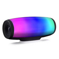 Wholesale flash music box - z11 7 colors pulse flash music mp3 bluetooth speaker handsfree waterproof subwoofer SD card player with mic LX2294