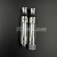 Wholesale thick tube top - Empty Vape Pen Cartridges 100% No Leak Thick Oil Vape 510 Cartridge vertical Ceramic Coil vaporizer Glass Tube 0.5ml atomzier Top Adjustable