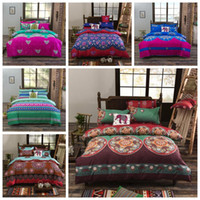Wholesale 3d bedding set for sale - 11 Styles set Bohemian Style Quilt Cover Set Cartoon Boho Comforter Bedding Sets Bohemian D Printed Bedding Sets CCA10514 set