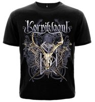 Wholesale musical sleeve - Game Shirt Casual Men O-Neck T-Shirt For Men's Short-Sleeve Musical Rock Band Korpiklaani Short-Sleeve Tee Shirts