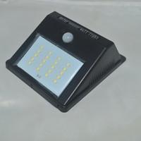 sensor de luz led inalámbrico al por mayor-Luces solares Exterior inalámbrico Impermeable Sensor de movimiento solar Luz de seguridad Brillante 20 LED para jardín, patio, cerca, Pathyway, pared exterior