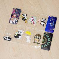 iphone kapak kılıfları pandalar toptan satış-Unicorn Yumuşak TPU Kılıf Iphone X 8 7 Artı 6 6 S Artı SE 5 5 S Kelebek Panda Fil Baykuş Temizle Silikon Lüks Cilt Telefon Kapak Karikatür