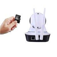 kamera sd ir ip toptan satış-HD 720 P WiFi IP Kamera Kablosuz IR-Cut Gece Görüş İki Yönlü Ses P2P Gözetim Güvenlik Kamera Wi-Fi Micro SD Kart