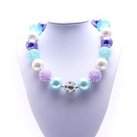 Wholesale Twisted Beads Necklace - MHS.SUN new design chunky beads necklace lovely design bubble gum kids necklace 2pcs lot very welcoming child jewelry necklace