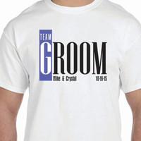 personalized team shirts Australia - Unisex Fashion T Shirt Short Sleeve Men Zomer Team Groom Personalized Wedding Husband O-Neck T Shirts