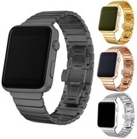 Wholesale fashion watches links for sale - Fashion Stainless Steel Butterfly loop Buckle Metal Link Strap for Apple Watch band mm mm Watch Straps for iwatch series