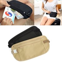 Wholesale travel security money bag - Travel Pouch Waist Belt Bag Compact Sport Jog Run Zippered Hidden Money Security Storage Bag DDA672