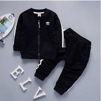 Wholesale tutu hot pants - AD brand baby boys and girls tracksuits kids tracksuits kids coat & pants 2 pcs sets kids clothing hot sell new fashion 2018 summer.