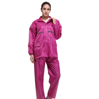 564293db5f8 Outdoor adult Hiking raincoat Men and women fashion semi transparent  frosted EVA Rainwear Waterproof Poncho Rain Coat - rose red