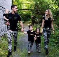 семейный набор подходящего снаряжения оптовых-Семья соответствующие наряды босс с коротким рукавом родитель-ребенок костюм папа и мама и дети и ребенок комплект одежды