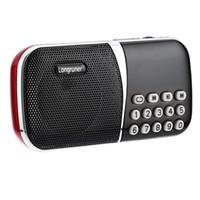 Wholesale mp3 player battery slots resale online - LONGRUNER L Mini FM Radio Speaker MP3 Player Pocket Size Microphone With TF Card Slot mm Earphone Jack Micro USB mAh