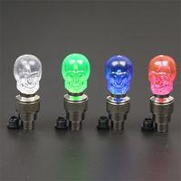 Wholesale skull head lamps resale online - Bicycle Valve Lamp Colors Skull LED Flash Lights Originality Outdoor Sports Mountain Bike Wheel Decorative Lamps pn Ww