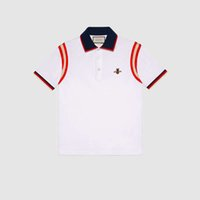 7b692914e Mens Designer Camisas Polo Moda Masculina T-shirt Bordado Abelha Polo de Manga  Curta Marca Top Básica Streetwear Moda T-shirt M-3XL