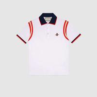 ingrosso base per gli uomini-Mens Designer Polo Camicia Moda Uomo T-Shirt Ricamo Ape Polo manica corta Marca Basic Top Streetwear Moda Tees M-3XL