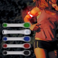 Wholesale cycle bulbs - LED Light Armband Adjustable Wearable Silicone Running Belt Strap Waterproof Glow Wristband for Running Walking Cycling Outdoor Sports