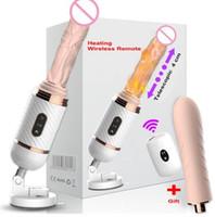 dildos automáticos venda por atacado-DIBEI Controle Remoto Automático Sex Machine para Mulheres Pumping Gun Dildo Vibrador Vibrador Feminino Masturbação Adulto Brinquedos Sexuais de silicone Médico