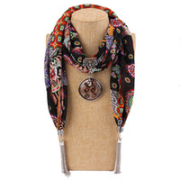 Wholesale scarf animal necklace online - 2018 Fashion New Arrival Charms Scarf jewellery Pendant Scarf Jewelry Scarves Necklace Scarf with pendant