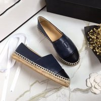 Wholesale low heeled white sandals - classic Summer Sandals Luxury brand Espadrilles Fisherman shoe Low heel Genuine leather Leisure shoes Many color size 35-41 model 178532027