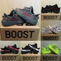 Wholesale shoe baby kids - Baby Kids Run Shoes Kanye West SPLY 350 Running Shoes Boost V2 Children Athletic Shoes Boys Girls Beluga 2.0 Sneakers Black Red
