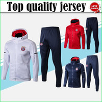 Wholesale Clubbing Pants Men - Best quality 2017 2018 Bayerne CLUB jacket WITH PANTS 17 18 VIDAL COSTA LEWANDOWSKI MULLER ROBBEN ALABA tracksuit football Hooded jacket
