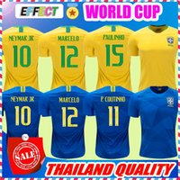NEYMAR JR Brasil soccer jerseys 2018 World cup Yellow Blue Brazil Top  Quality JESUS COUTINHO MARCELO FIRMINO football shirts camisa de futeb 4dd71eec8