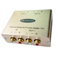 Wholesale analog stereo - 3-CH Stereo audio splitter Stereo RCA audio splitter Analog audio distributor with isolation and Eliminate Noise
