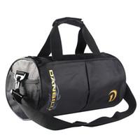рюкзак спортивный багаж оптовых-2018 New Nylon Large Space Sports Backpack Fitness Gym Shoulder Handbag for Male Female Travel Use Cylinder Luggage