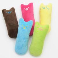 Wholesale pet toy wholesale - Pet Plush Toy Cute Soft Resistance To Bite Color Dog Toys Contain Catnip Vivid Modeling 3 43bl Z RW