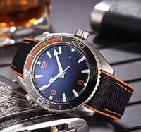 relógios mens mecânica venda por atacado-Novo estilo de luxo relógio preto planeta oceano co-axial 215.32.44.21.01.001 600m Ásia CAL.8500 movimento mecânico automático mens relógios de pulso