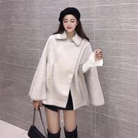 Wholesale wool capes cloaks online - New Autumn Women s Cape Coat Lady s Loose Tops Outwear Poncho Overcoat Lady s Cloak Coat C3828